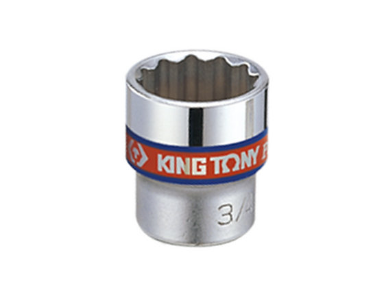 "Chrome Socket - 3/8"" Drive, 12 Point, Imperial"