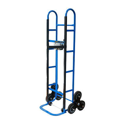 side view blue stair climber trolley