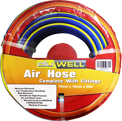 front view air hose in packet
