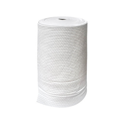 Side view of white oil and fuel absorbent roll