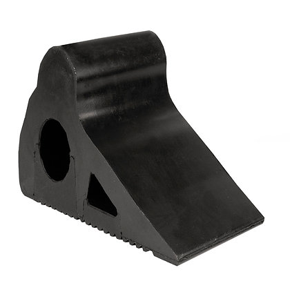Side view of black rubber wheel chock 10t