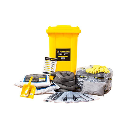 Front view of General Purpose Spill Kit refill with contents