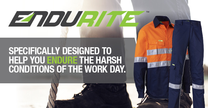 Endurite workwear availabe at Bishops