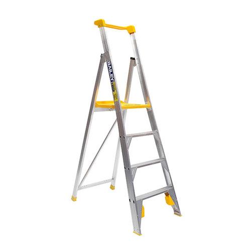 Single Sided Platform Aluminium Step Ladder  1.15m