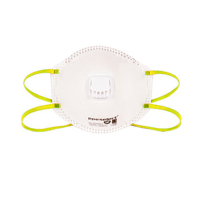 front view valved P2 disposable respirator