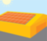 Solar Panels on Warehouse Roof Illustration
