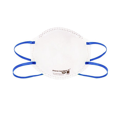 front view white P1 disposable respirator
