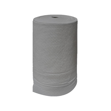 Side view of grey general purpose absorbent roll
