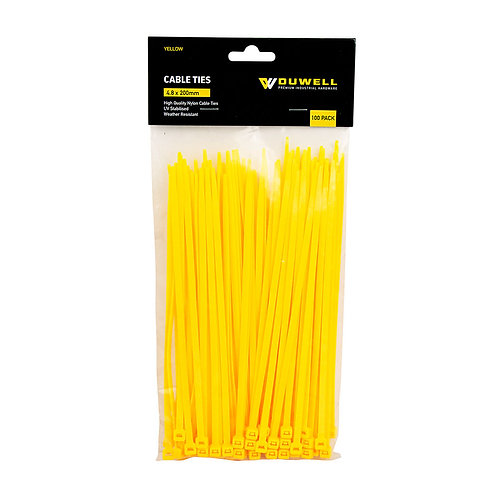 Cable Tie UV Resistant 200 x 4.8mm 100 Pack