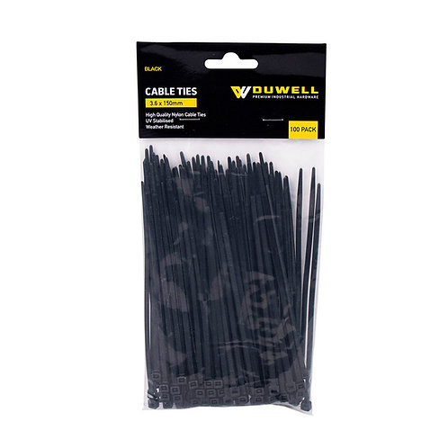 Cable Tie UV Resistant 150 x 3.6mm 100 Pack