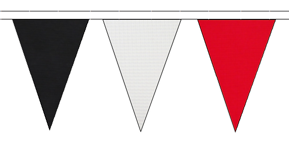 Bunting – Red, Black, White, 30m