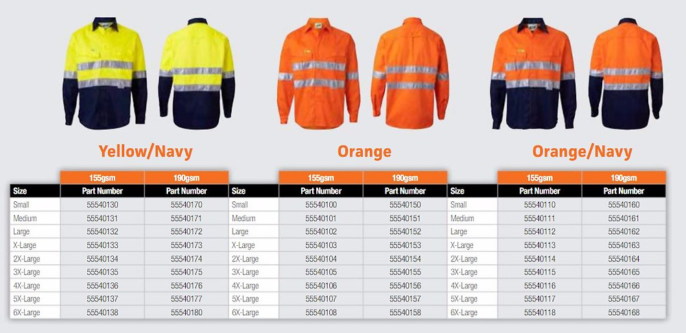 Endurite work shirts hi vis