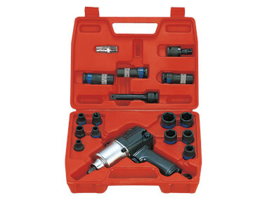 "Pneumatic Impact Wrench Kit – 1⁄2"", 678Nm, 21 Piece"