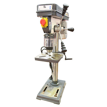 Front view of 5 speed bench drill press