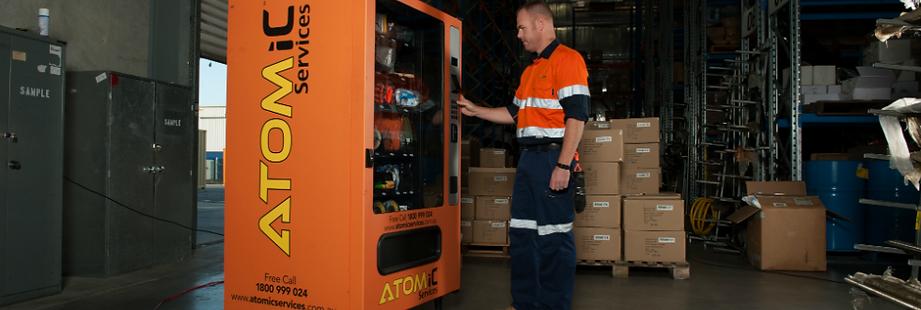 ATOMic Vending Machine In Warehouse