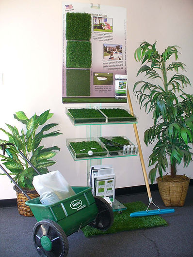 artificial grass display