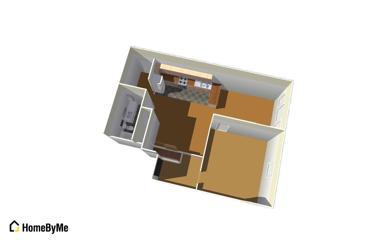 One-Bedroom Apt. Floor Plan