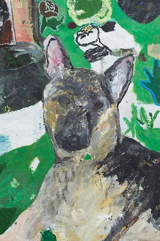 Dog Pepper Heart Detail