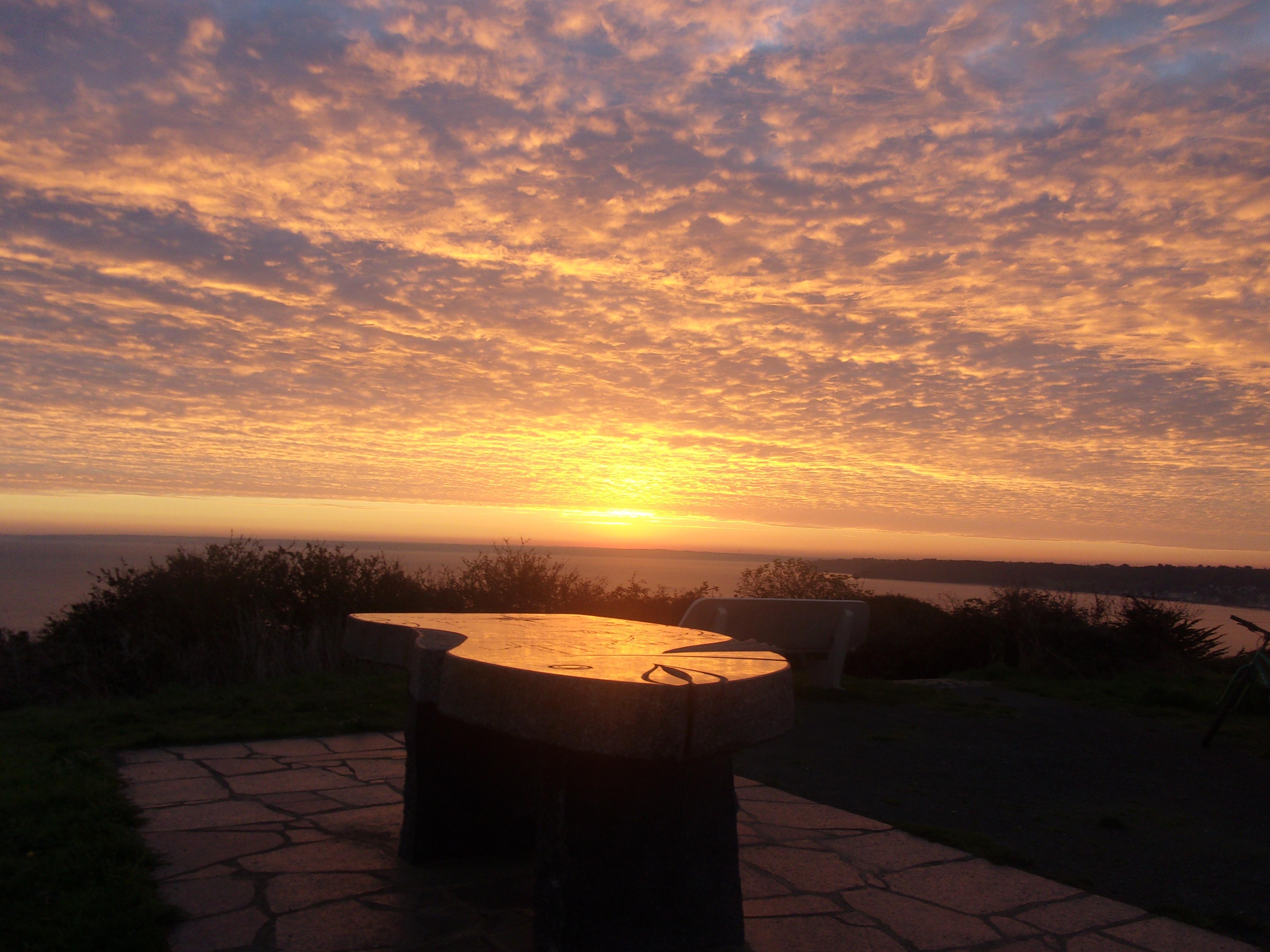 lever de soleil pointe de Pordic