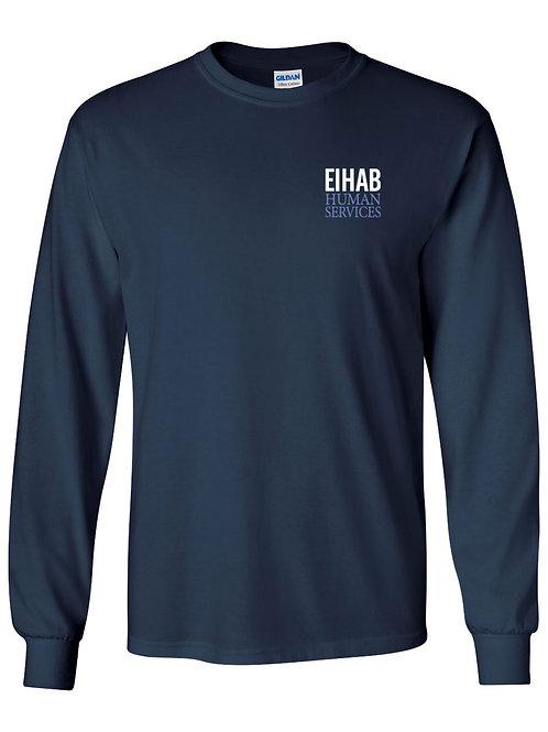 Navy Blue EIHAB Long Sleeve Crewneck T-shirt