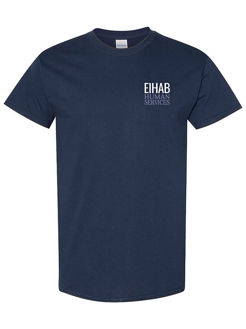 Navy Blue EIHAB Short Sleeve Crewneck T-shirt