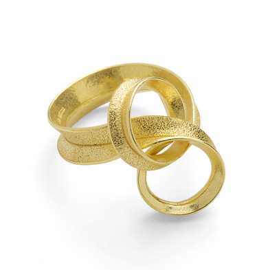Curl Ring Loop 18ct Yellow Gold
