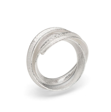 Curl Ring Double Silver