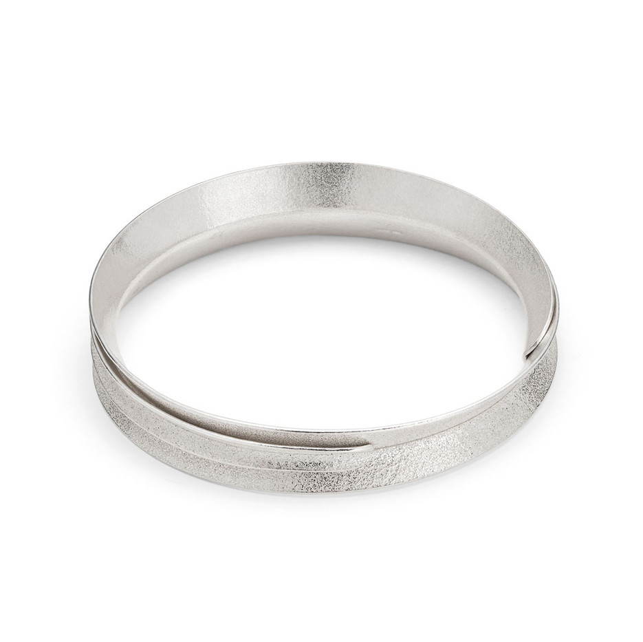 Curl Bangle Wrap Silver