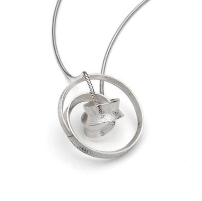 Curl Pendant Complex Silver