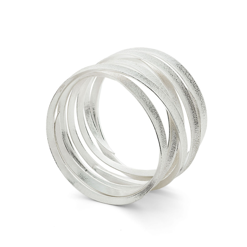 Curl Bangle 6X Silver
