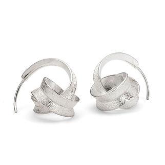 Silver Curl earrings knot design 4.jpg