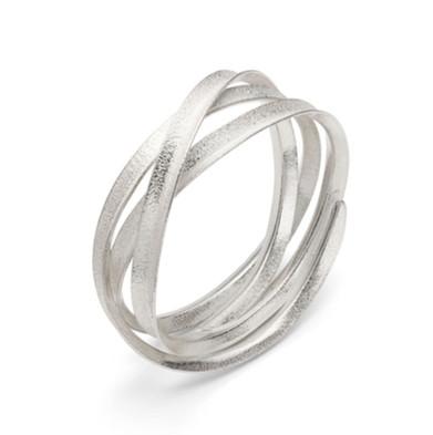 Curl Bangle Triple Silver