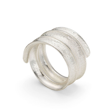 Curl Ring Coil Silver
