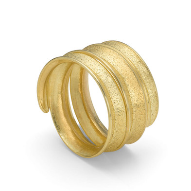 Curl Ring Coil 18ct Yellow Gold