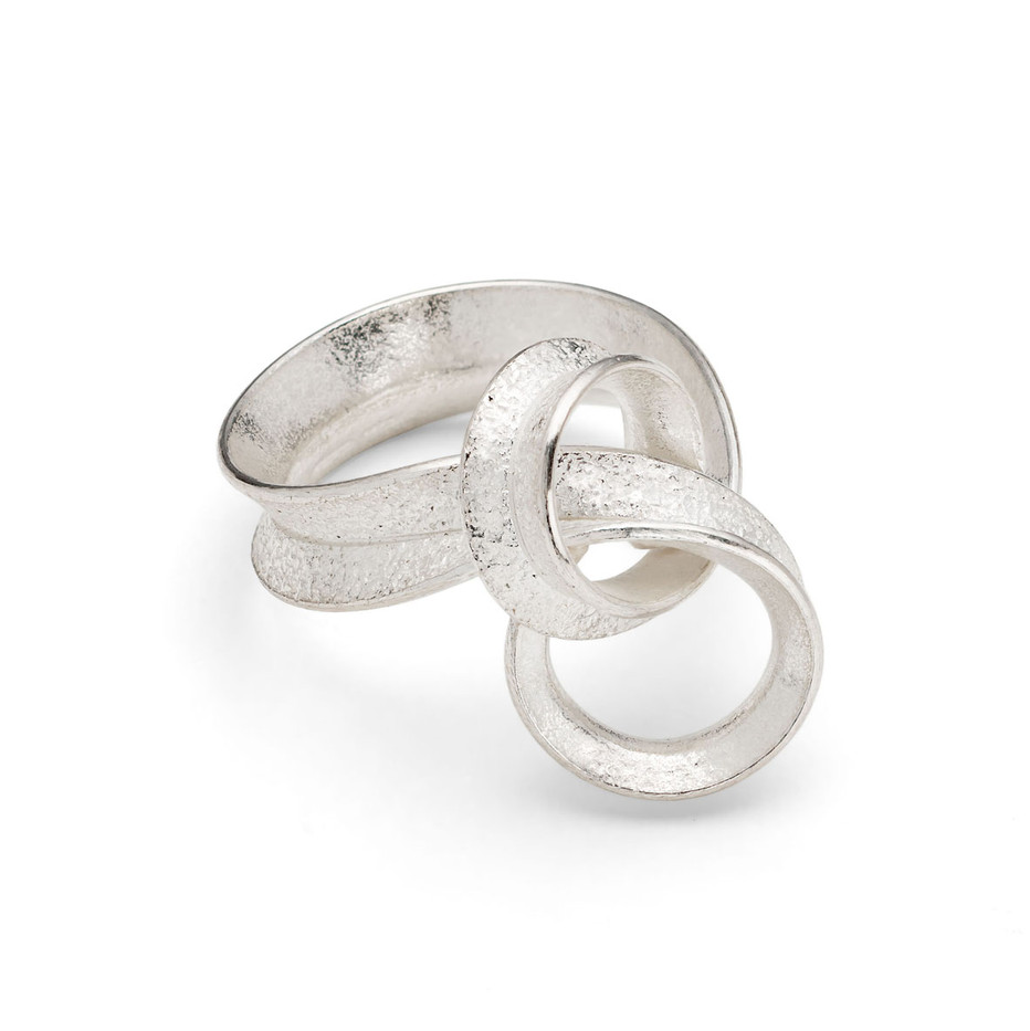 Curl Ring Loop Silver