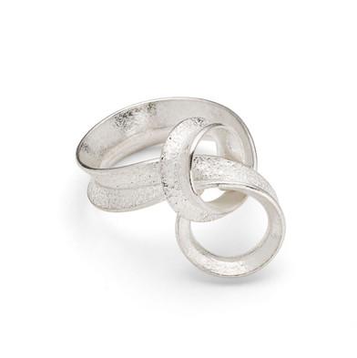 Curl Ring Loop Silver