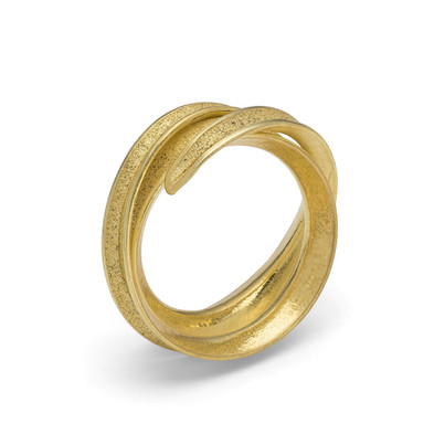 Curl Ring Double 18ct Yellow Gold