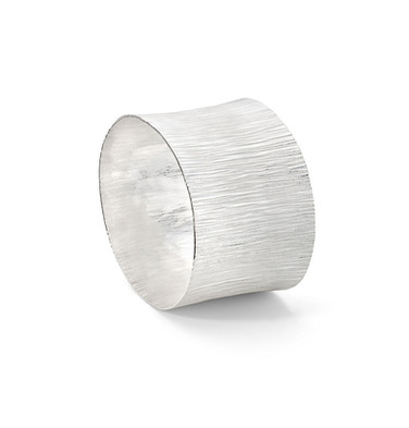 Forged Silver Bangle Wide Joined