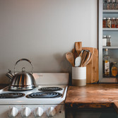 Smaller range opens up countertop space and our spice rack is always full for you to provide everything you need for cooking.