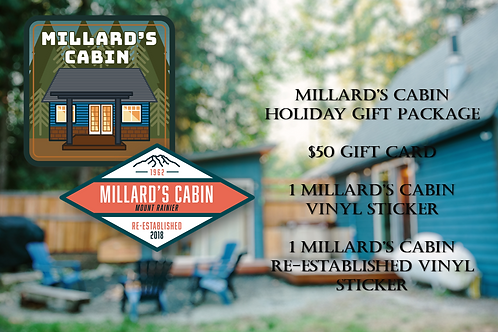 Millard's Cabin $50 Holiday Gift Package