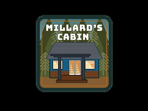 Millard's Cabin Vinyl Sticker