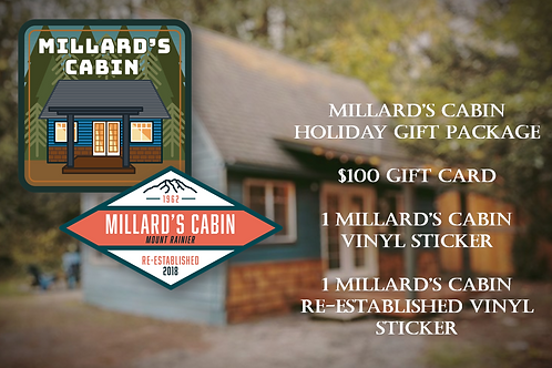 Millard's Cabin $100 Holiday Gift Package