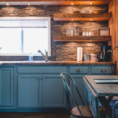 Now we are talking. Natural tones, fresh cabinets and some outdoor feel brought to your kitchen.