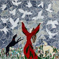 Tanz mit Tauben