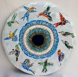 Vogelflug. Mosaik-mandala