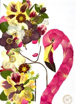 Mädchen mit Flamingo