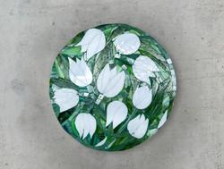 Tulpen nach dem Regen