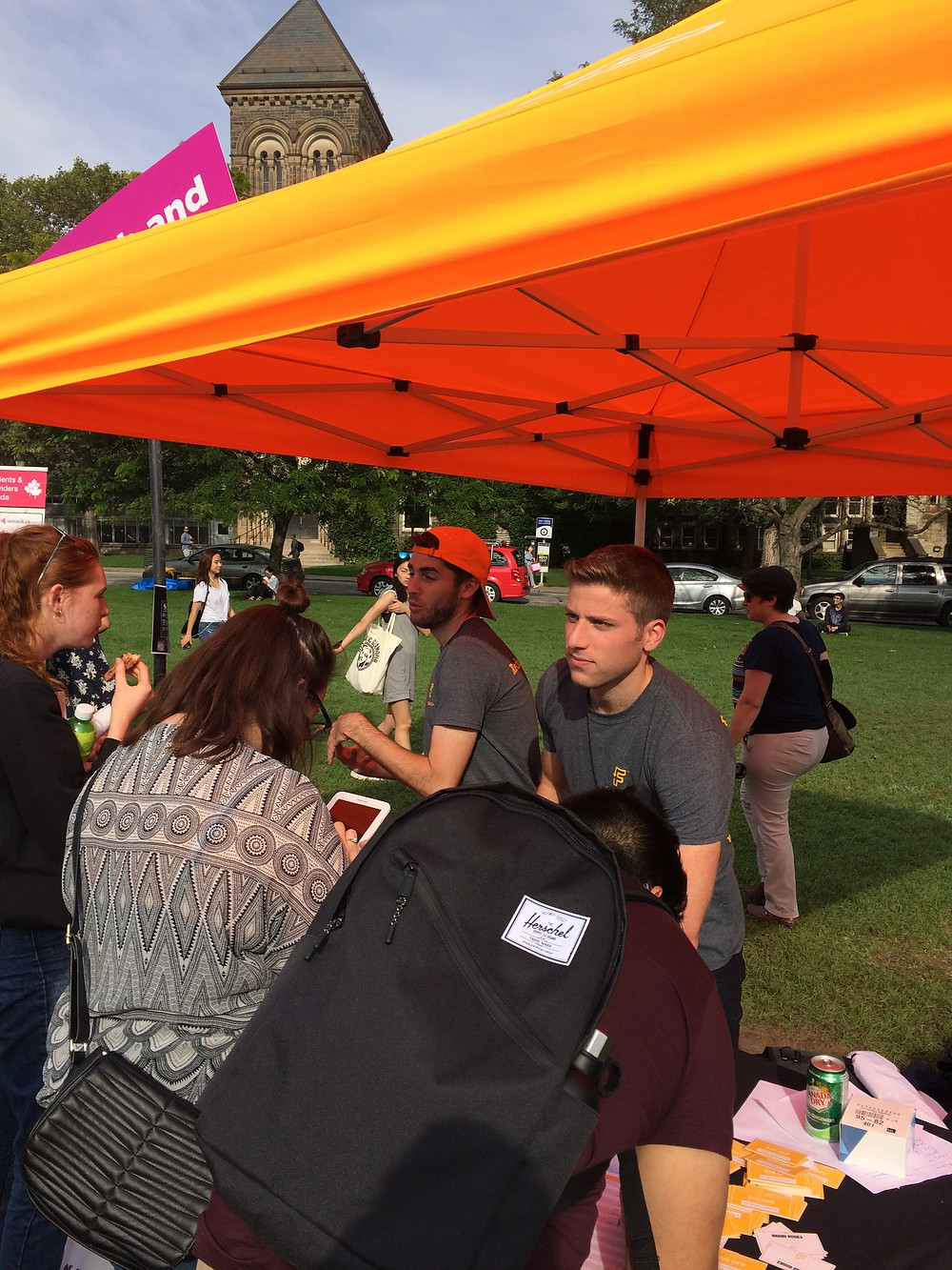 Feedback's co-founder Ben Walters, and CPO Casey Lewis at University of Toronto's Frosh Week Event
