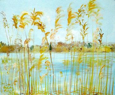 #2521 Grenadier Reeds, oil on canvasboar