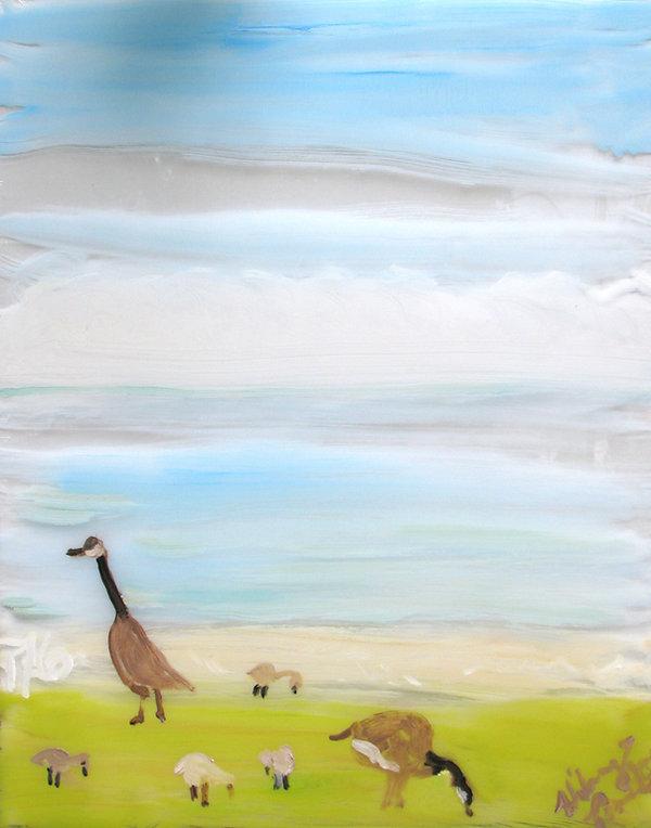 #1419, At the Shore, wonderama, Geese an